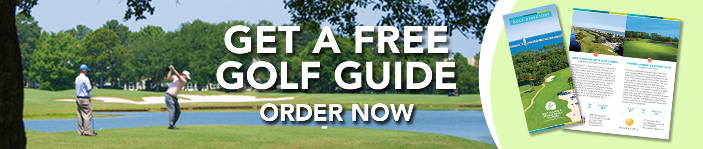 Order a free golf guide of Gulf Shores and Orange Beach, Alabama