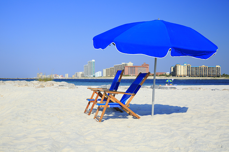 Orange Beach, Alabama beach chairs