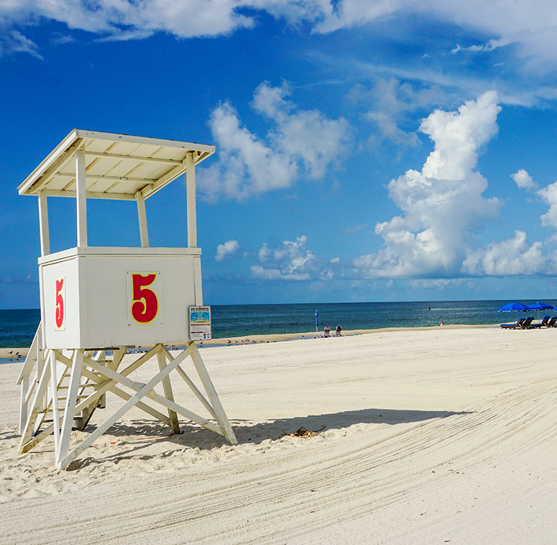 Gulf Shores lifeguard station