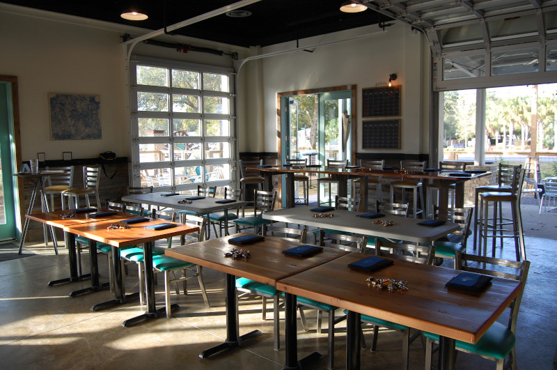 Meeting set-up at Big Beach Brewing Company