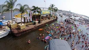 Boat on over to the Gumbo Key concert on the water on June 20 in Orange Beach, Alabama.