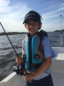Junior anglers like Charlie Long are ready for this weekend's MBGFC kid's tournament.