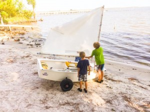 Young visitors will enjoy learning to sail at the Wind and Water Learning Center in Orange Beach.