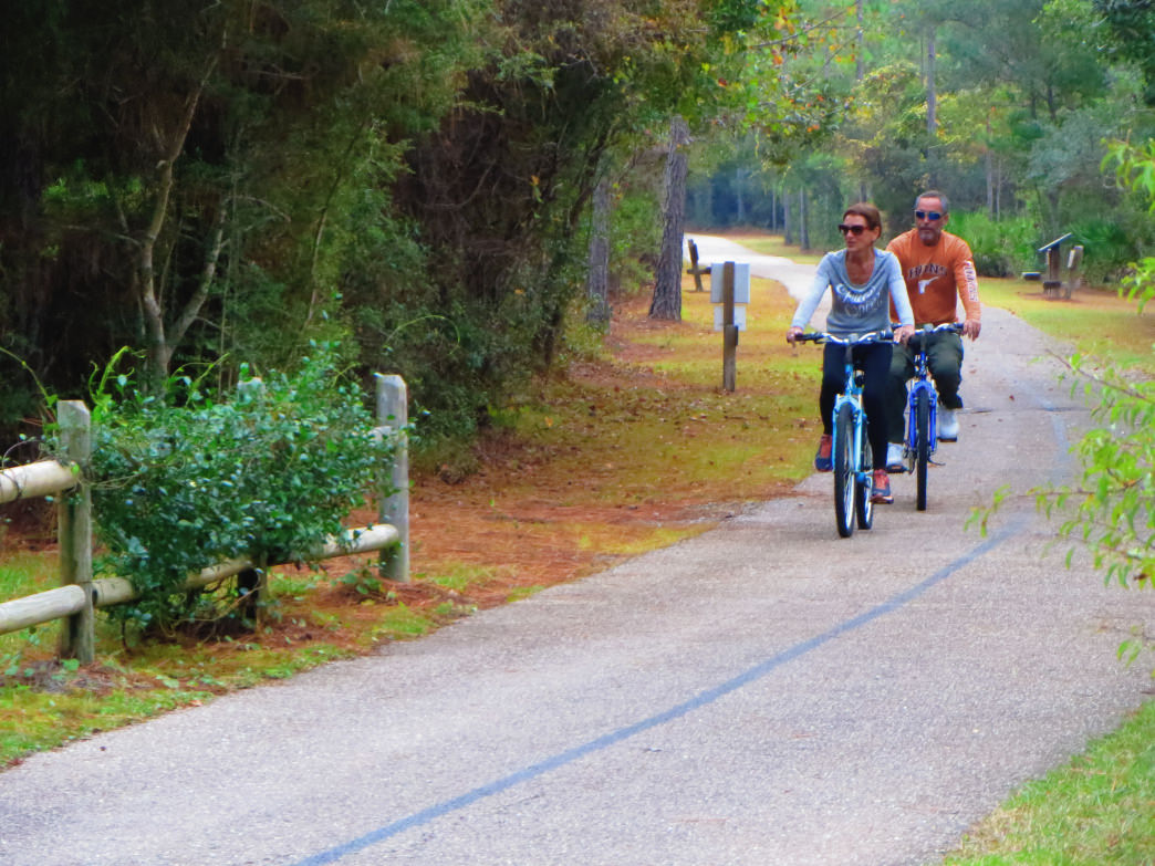 The Coyote Crossing Trail is tucked away from the highway and offers uninterrupted riding.
