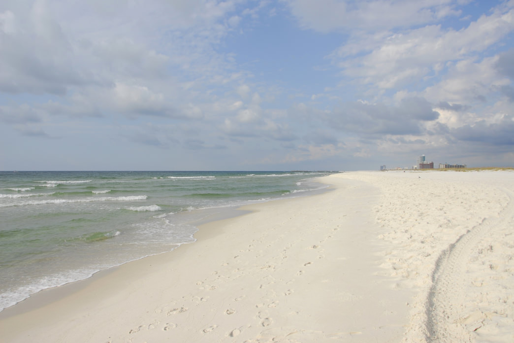 The sugar-sand beaches of Alabama's Gulf Coast.
