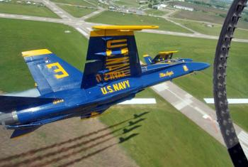 The Blue Angels Practice