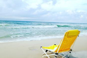 Folding Chair on Alabama's Beaches