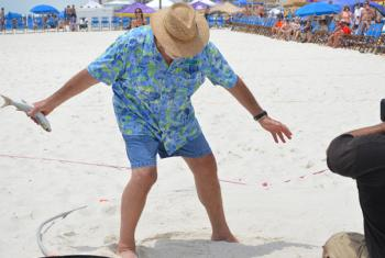 Mullet Toss at Flora-Bama in Orange Beach