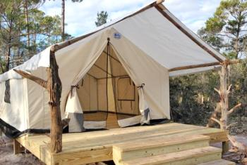 Rustic Camping at Gulf State Park in Gulf Shores AL