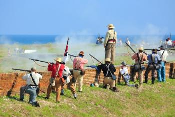 Fort Morgan reenactment