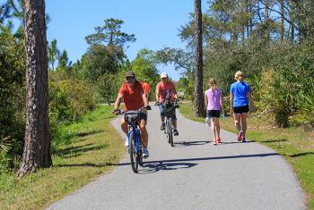 Bike along scenic paths