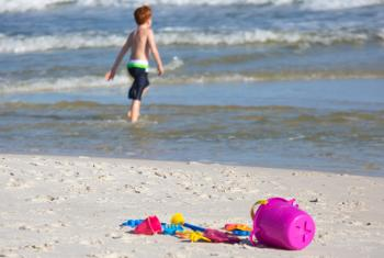 Boy and Sand Toys on Alabama's Beaches