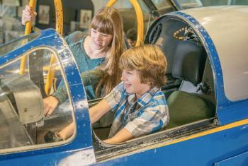 Kids at National Museum of Naval Aviation
