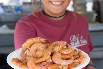 Plate of Alabama Gulf Coast Shrimp