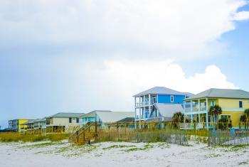 Houses on the beach in Gulf Shores, AL