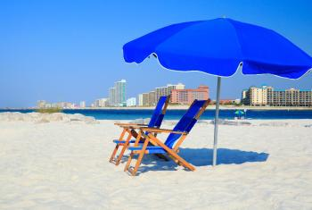 Beach chairs on Alabama's beaches