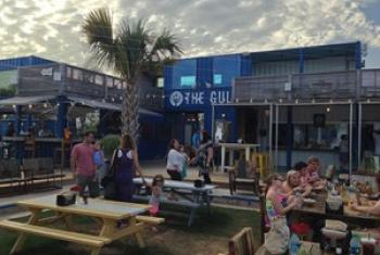 The Gulf offers outdoor dining in Orange Beach Al.