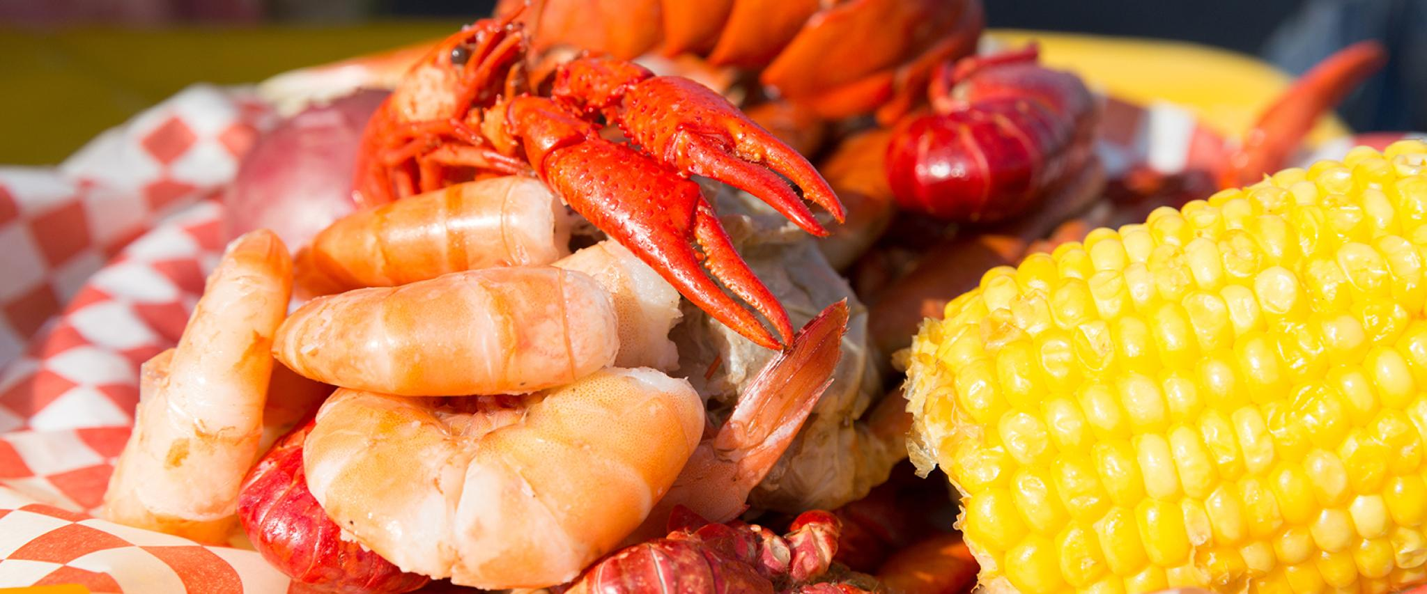 Gulf Shrimp, Lobster and Corn