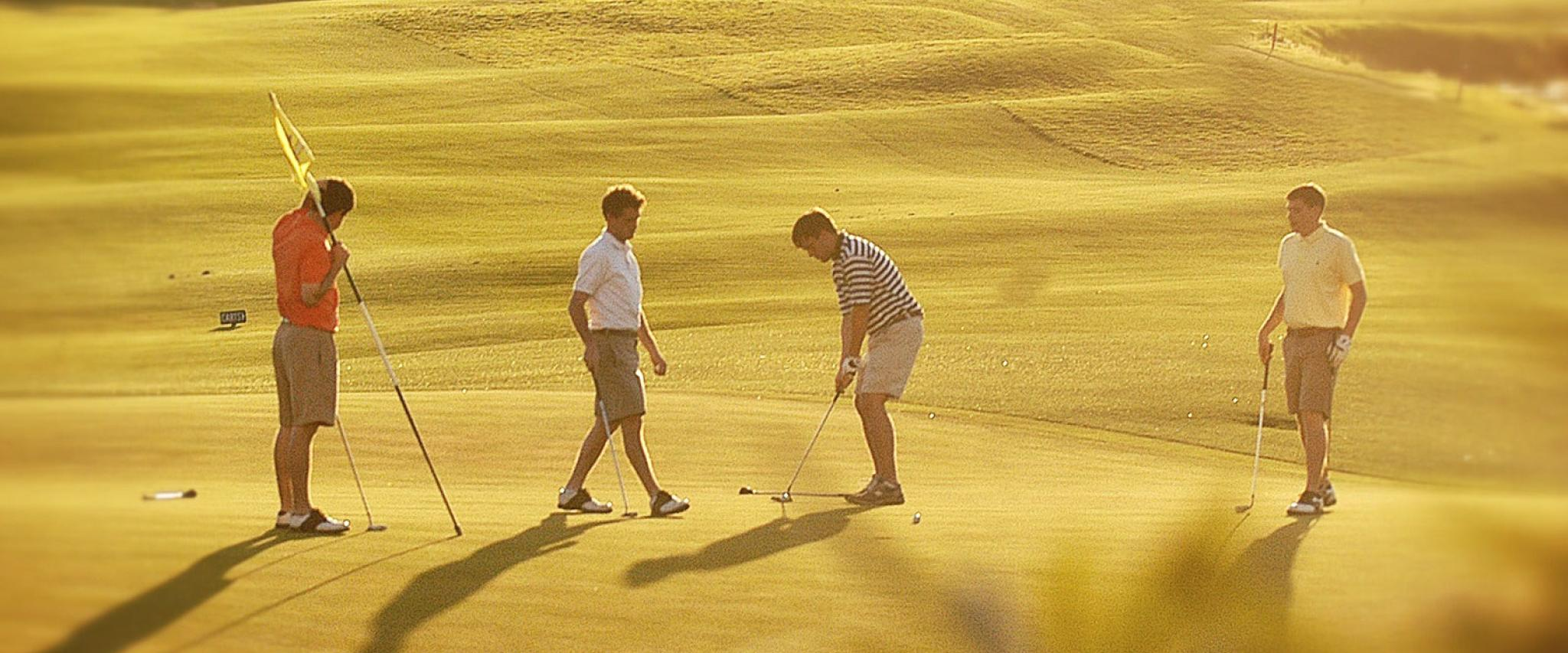 Golfers Playing Kiva Dunes Golf Course in Gulf Shores AL