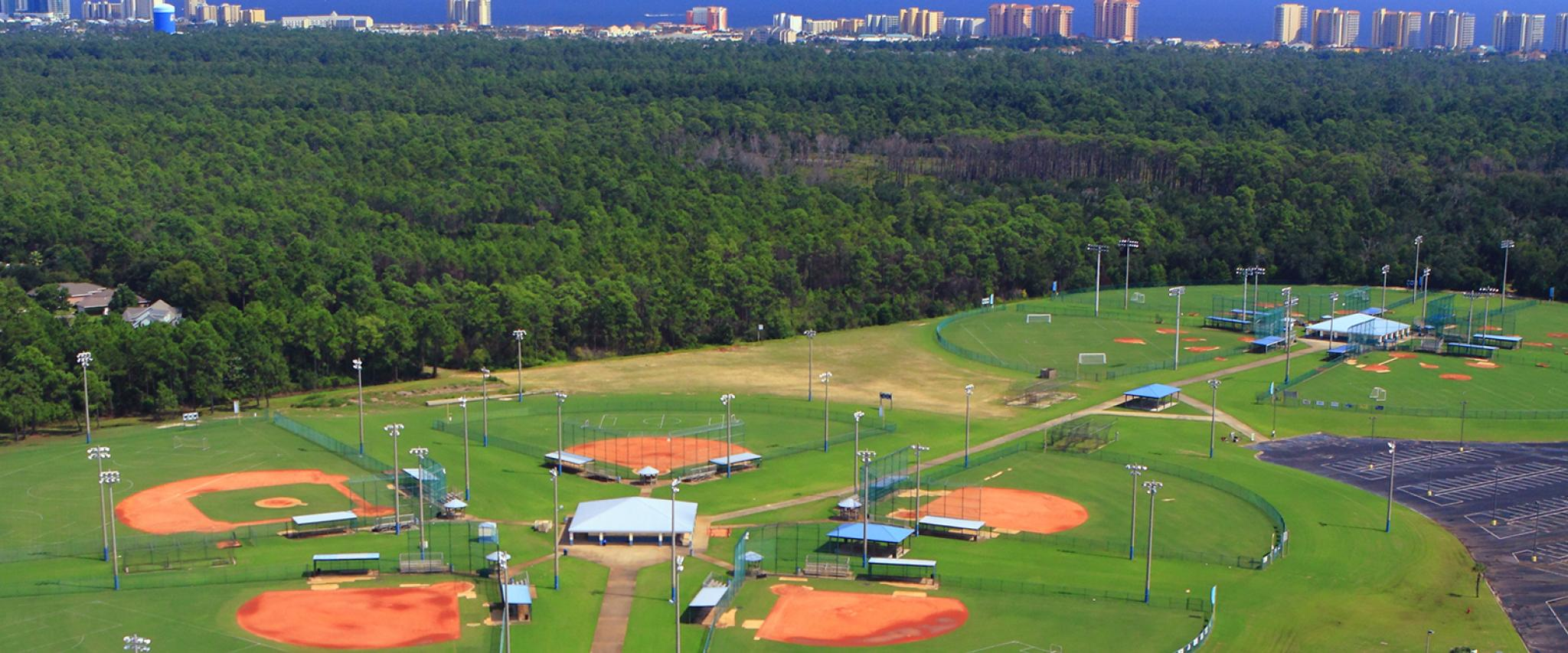 Orange Beach Baseball Facilities on Alabama Gulf Coast