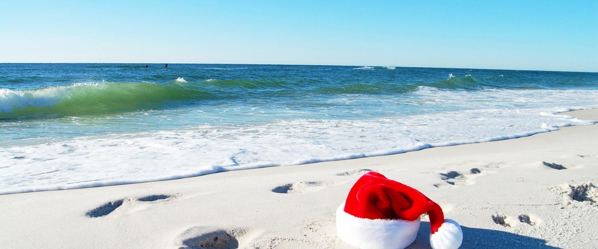 e262413da6105 Coastal Christmas Santa hat