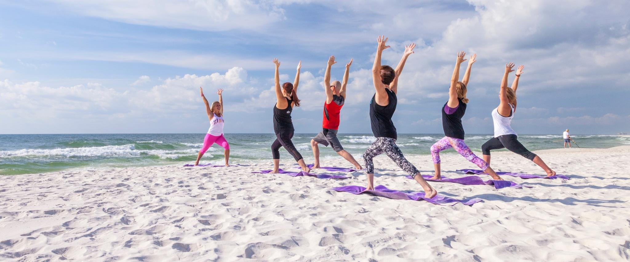 yoga on the beach Gulf Shores al