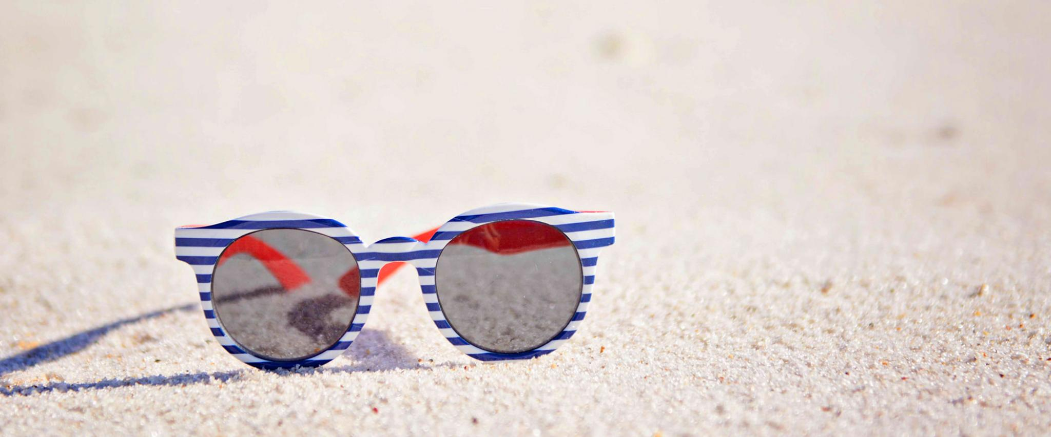 Patriotic Sunglasses on Alabama's White Sand Beaches