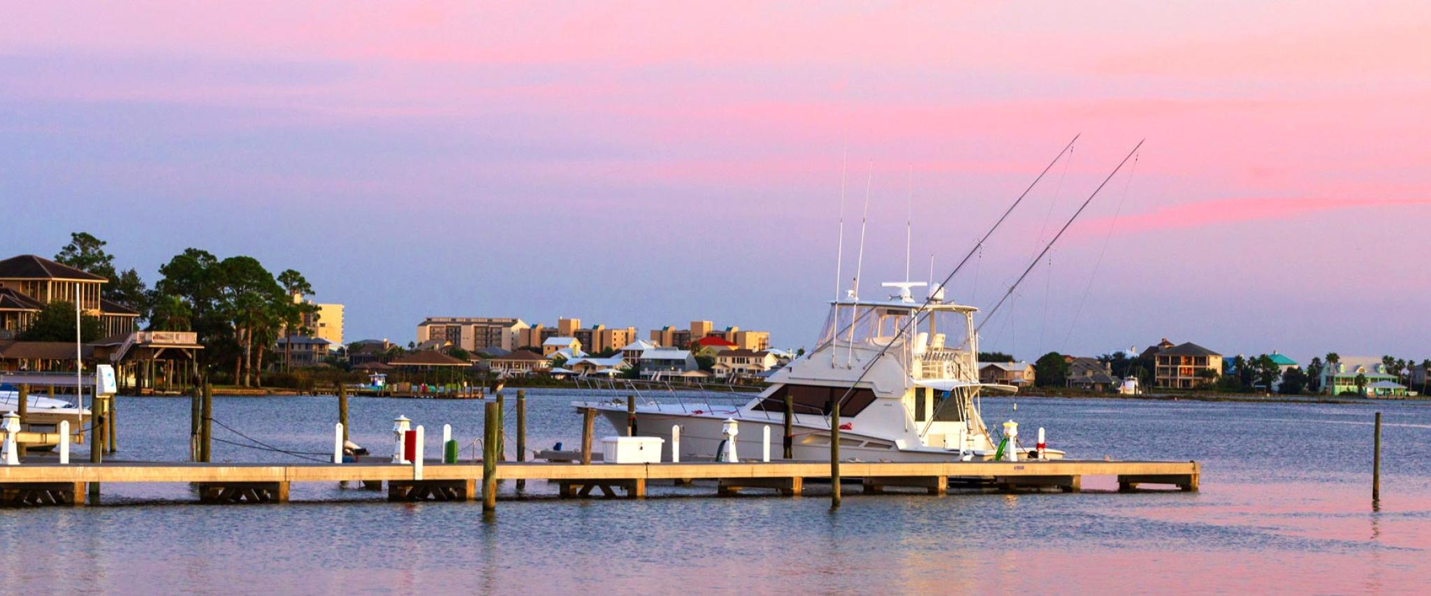 Fishing Boat at Pier in Orange Beach AL