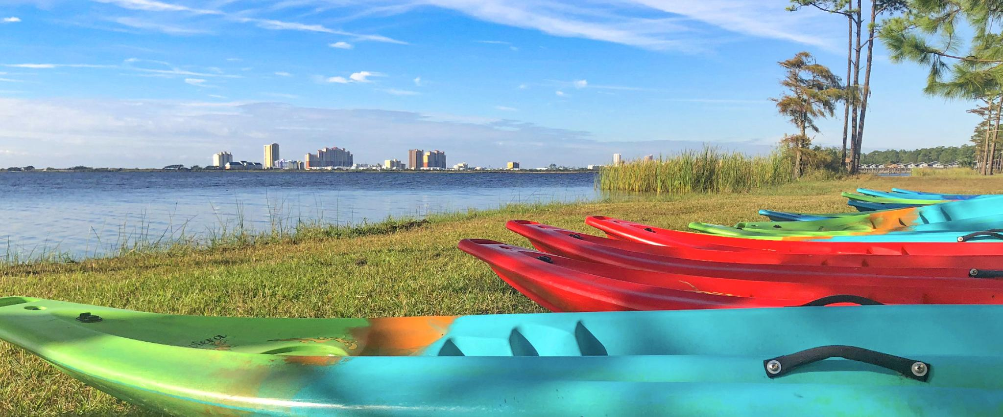 Kayaks in Gulf Shores and Orange Beach