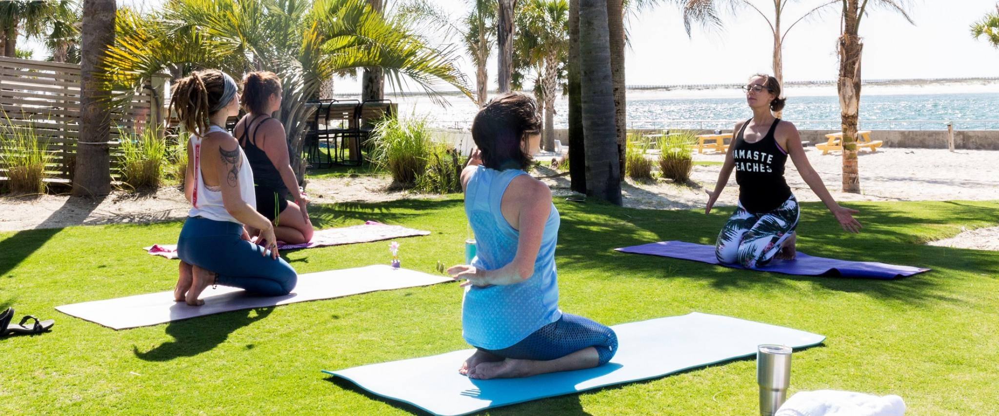 yoga at the Gulf Orange Beach