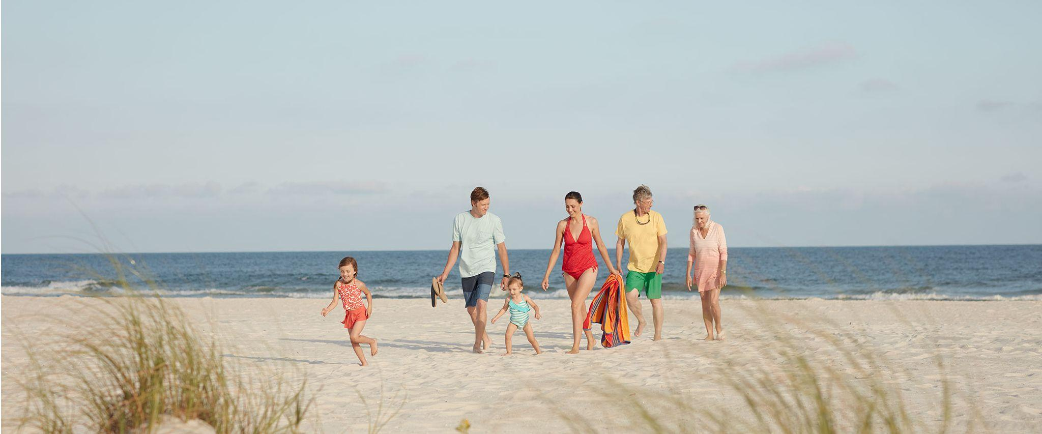 Multigenerational family on the beach in Gulf Shores AL