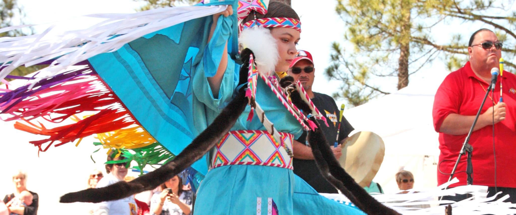Native American Dancer at Ballyhoo Festival