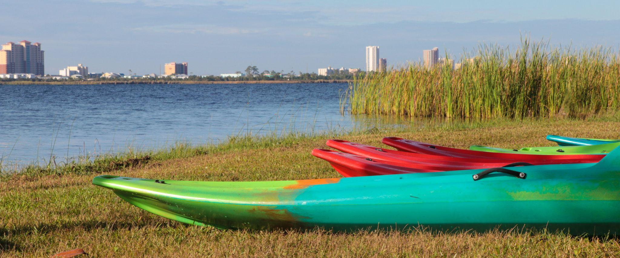 Kayaks at Gulf State Park in Gulf Shores, AL