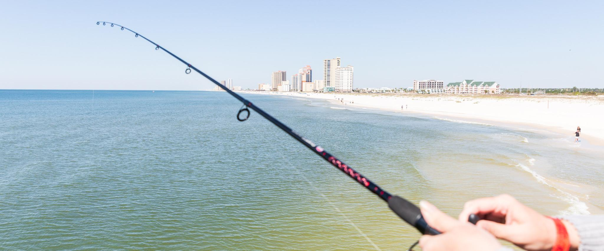Flounder fishing at the Gulf State Park Pier