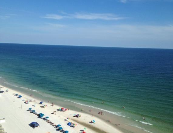 Gulf Shores beach crowd