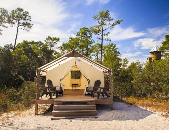 Campground at Gulf State Park in Gulf Shores AL