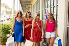 Girls Shopping the Wharf Orange Beach AL