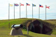 Fort Morgan Flag pole